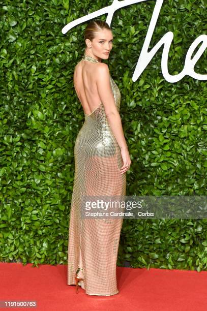 Rosie HuntingtonWhiteley arrives at The Fashion Awards 2019 held at Royal Albert Hall on December 02 2019 in London England