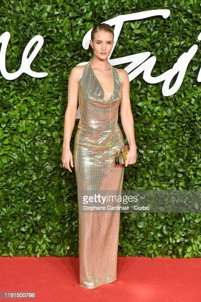 Rosie Huntington-Whiteley arrives at The Fashion Awards 2019 held at Royal Albert Hall on December 02, 2019 in London, England.