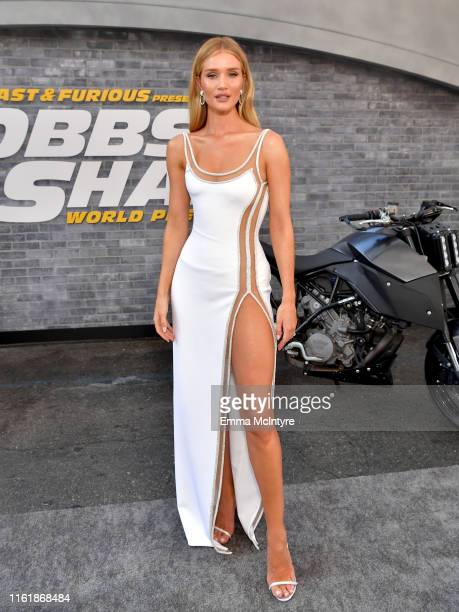 Rosie HuntingtonWhiteley arrives at the premiere of Universal Pictures' Fast Furious Presents Hobbs Shaw at Dolby Theatre on July 13 2019 in...