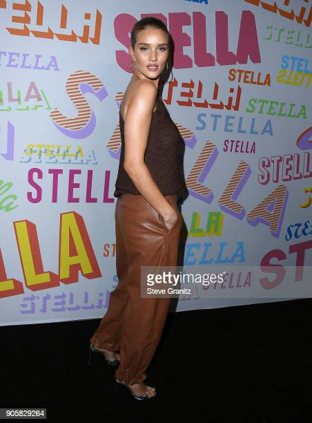 Rosie HuntingtonWhiteley arrives at the Stella McCartney's Autumn 2018 Collection Launch on January 16 2018 in Los Angeles California