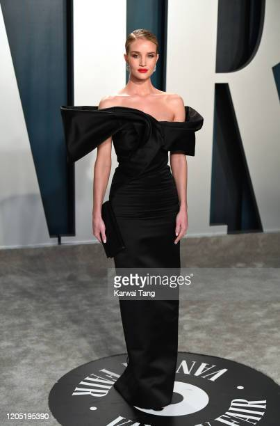Rosie HuntingtonWhiteley arriving for the 2020 Vanity Fair Oscar Party Hosted By Radhika Jones at the Wallis Annenberg Center for the Performing Arts...