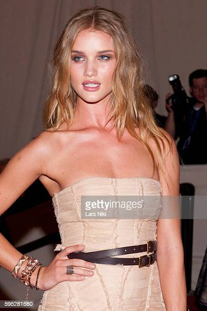 Rosie HuntingtonWhiteley attends 'American Woman Fashioning A National Identity' Costume Institute Gala at The Metropolitan Museum of Art in New York...