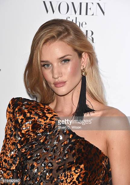Rosie HuntingtonWhiteley attends Harper's Bazaar Women Of The Year Awards at Claridge's Hotel on October 31 2016 in London England