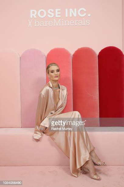 Rosie HuntingtonWhiteley attends Rose Inc bareMinerals Beauty Master Class at Goya Studios on October 26 2018 in Los Angeles California
