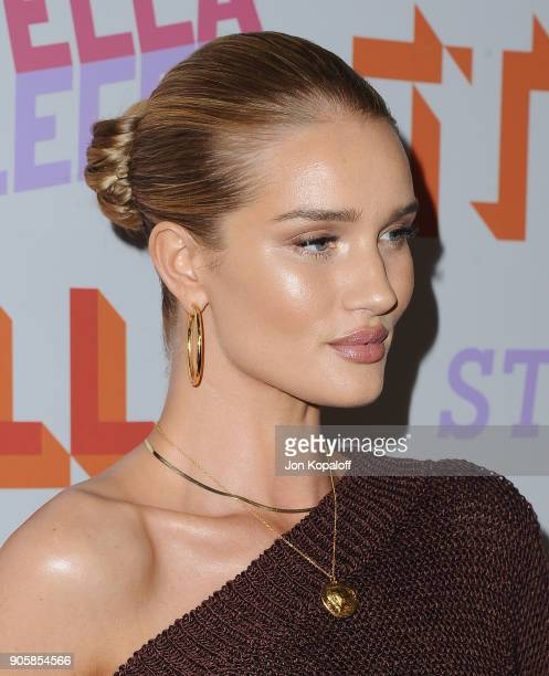 Rosie HuntingtonWhiteley attends Stella McCartney's Autumn 2018 Collection Launch on January 16 2018 in Los Angeles California