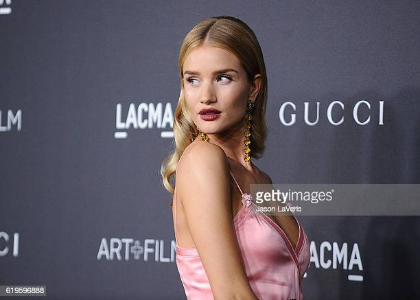 Rosie HuntingtonWhiteley attends the 2016 LACMA Art Film gala at LACMA on October 29 2016 in Los Angeles California