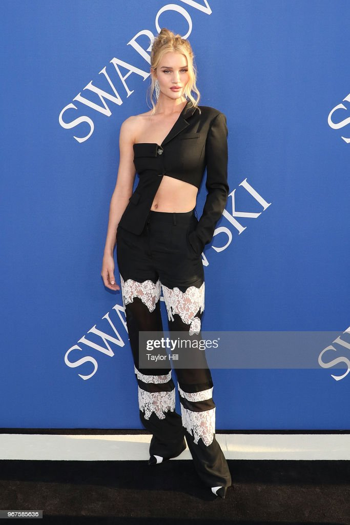 Rosie Huntington-Whiteley attends the 2018 CFDA Awards at Brooklyn Museum on June 4, 2018 in New York City.