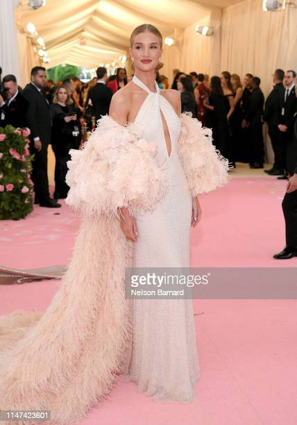 Rosie HuntingtonWhiteley attends The 2019 Met Gala Celebrating Camp Notes on Fashion at Metropolitan Museum of Art on May 06 2019 in New York City