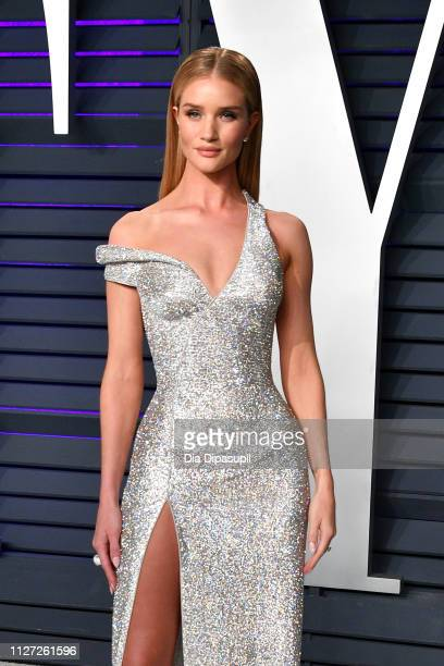Rosie HuntingtonWhiteley attends the 2019 Vanity Fair Oscar Party hosted by Radhika Jones at Wallis Annenberg Center for the Performing Arts on...