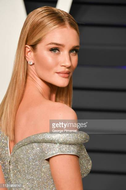 Rosie Huntington-Whiteley attends the 2019 Vanity Fair Oscar Party hosted by Radhika Jones at Wallis Annenberg Center for the Performing Arts on...