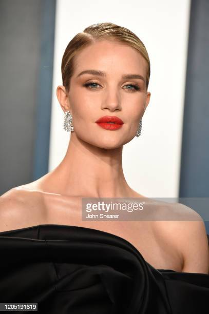 Rosie Huntington-Whiteley attends the 2020 Vanity Fair Oscar Party hosted by Radhika Jones at Wallis Annenberg Center for the Performing Arts on...