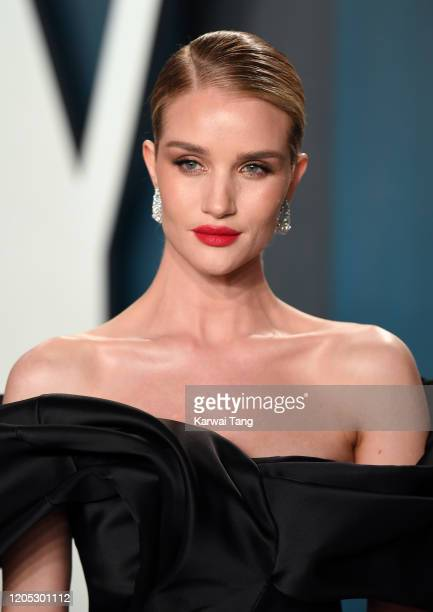 Rosie HuntingtonWhiteley attends the 2020 Vanity Fair Oscar Party hosted by Radhika Jones at Wallis Annenberg Center for the Performing Arts on...