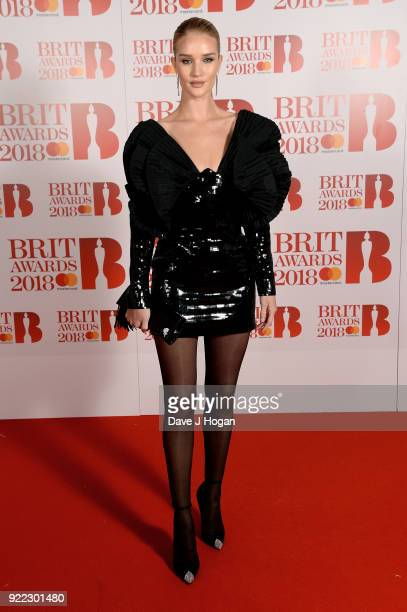 AWARDS 2018 *** Rosie HuntingtonWhiteley attends The BRIT Awards 2018 held at The O2 Arena on February 21 2018 in London England