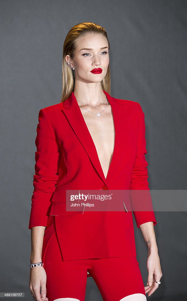 Rosie Huntington-Whiteley attends the British Fashion Awards 2013 at London Coliseum on December 2, 2013 in London, England.