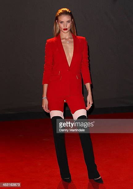 Rosie HuntingtonWhiteley attends the British Fashion Awards 2013 at London Coliseum on December 2 2013 in London England