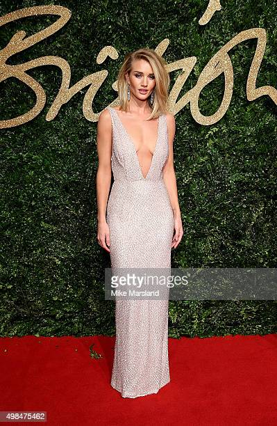 Rosie HuntingtonWhiteley attends the British Fashion Awards 2015 at London Coliseum on November 23 2015 in London England