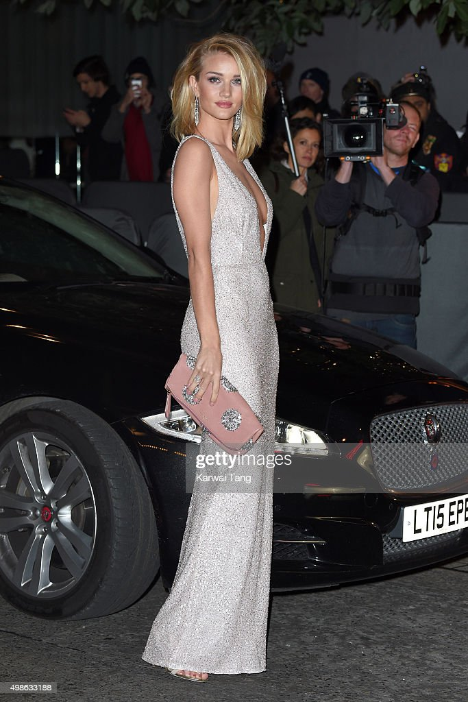Rosie Huntington-Whiteley attends the British Fashion Awards 2015 at London Coliseum on November 23, 2015 in London, England.