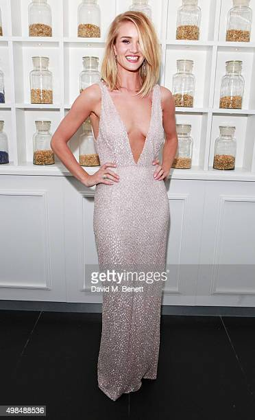 Rosie HuntingtonWhiteley attends the British Fashion Awards official afterparty hosted by St Martins Lane and sponsored by Ciroc Vodka at St Martins...
