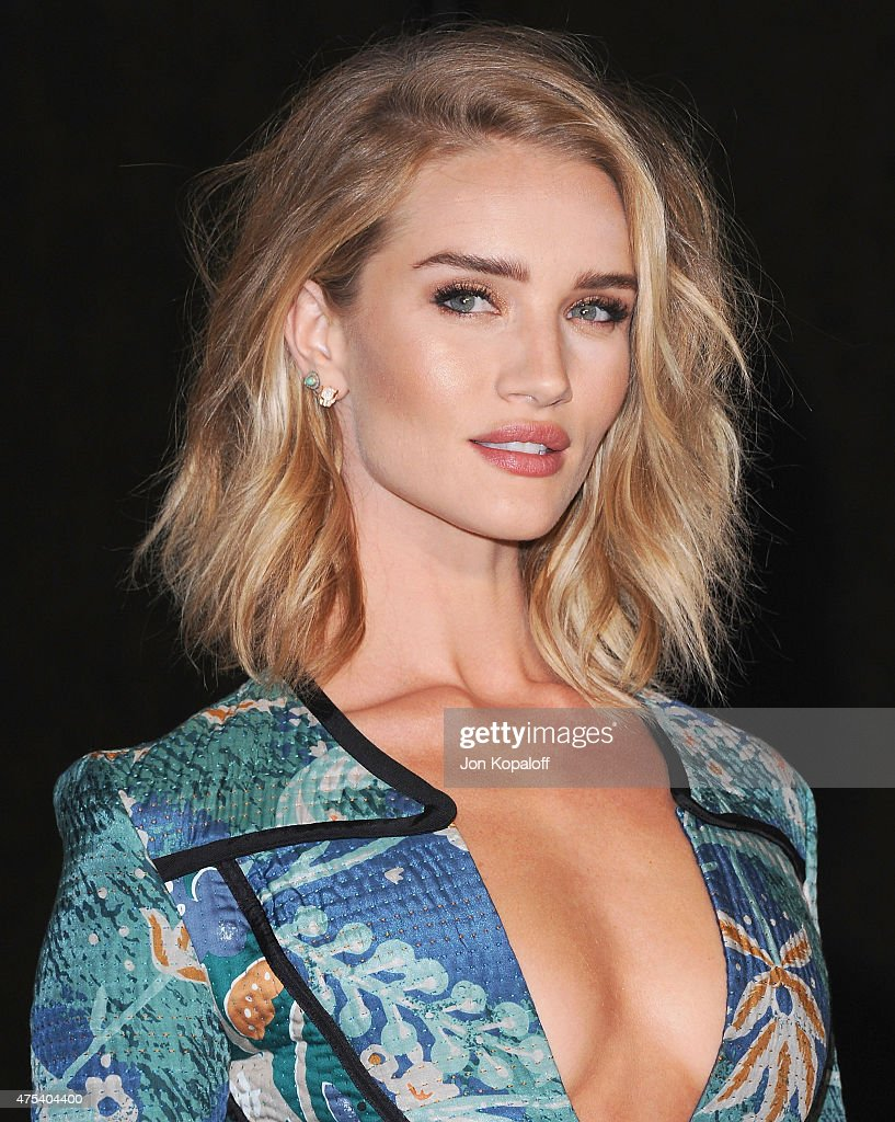 Rosie Huntington-Whiteley attends the Burberry 'London in Los Angeles' event at Griffith Observatory on April 16, 2015 in Los Angeles, California.