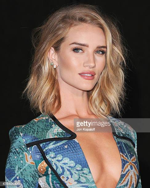 Rosie HuntingtonWhiteley attends the Burberry 'London in Los Angeles' event at Griffith Observatory on April 16 2015 in Los Angeles California
