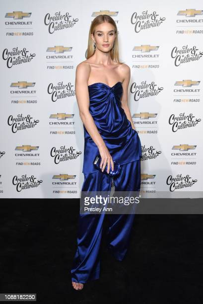 Rosie HuntingtonWhiteley attends the Create Cultivate And Chevrolet Launch Event For The Create Cultivate 100 List on January 24 2019 in Los Angeles...