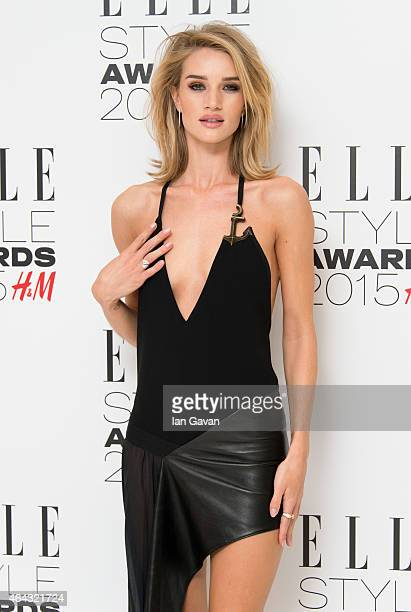 Rosie HuntingtonWhiteley attends the Elle Style Awards 2015 at Sky Garden @ The Walkie Talkie Tower on February 24 2015 in London England