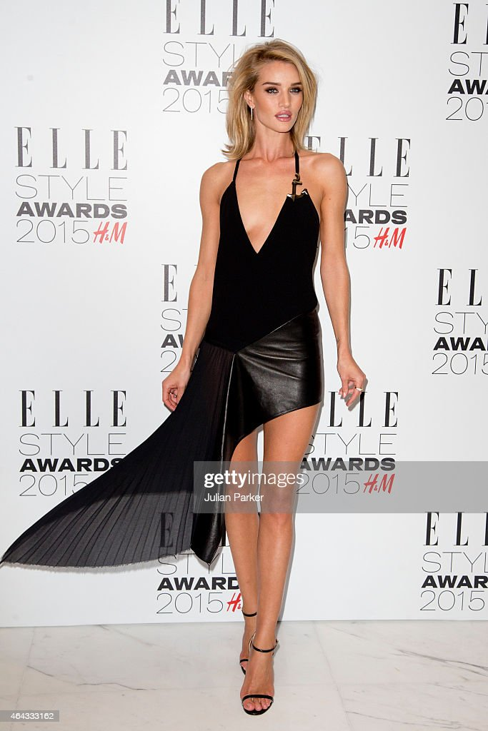 Rosie Huntington-Whiteley attends the Elle Style Awards 2015 at Sky Garden @ The Walkie Talkie Tower on February 24, 2015 in London, England.