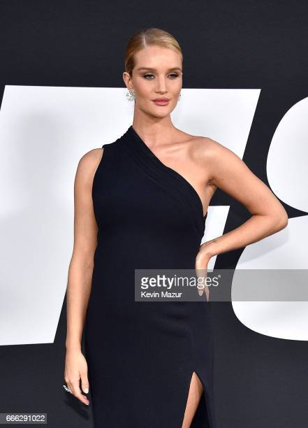 Rosie HuntingtonWhiteley attends 'The Fate Of The Furious' New York premiere at Radio City Music Hall on April 8 2017 in New York City