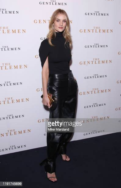 "Rosie Huntington-Whiteley attends ""The Gentleman"" Special Screening at The Curzon Mayfair on December 03, 2019 in London, England."
