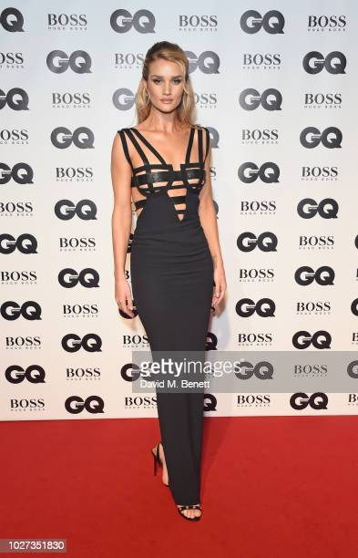 Rosie Huntington-Whiteley attends the GQ Men of the Year Awards 2018 in association with HUGO BOSS at Tate Modern on September 5, 2018 in London,...