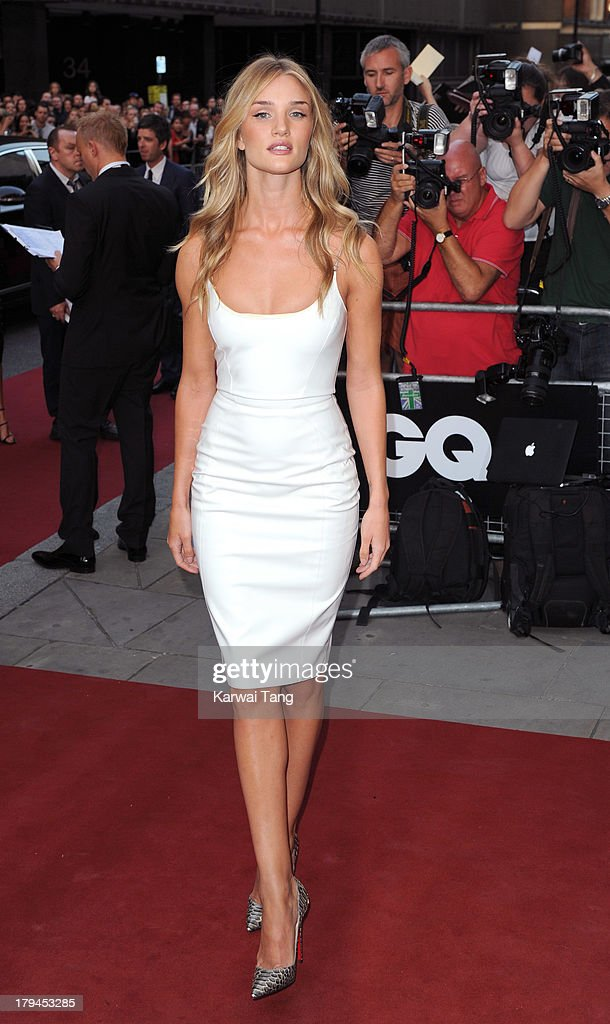 Rosie Huntington-Whiteley attends the GQ Men of the Year awards at The Royal Opera House on September 3, 2013 in London, England.