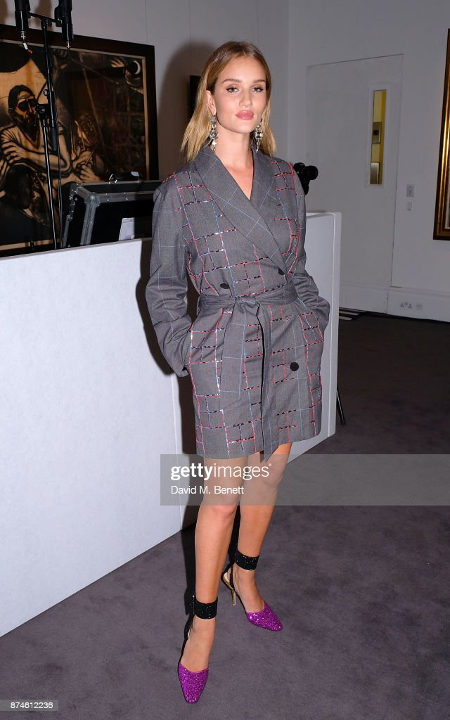 Rosie Huntington-Whiteley attends the Harper's Bazaar Power List of 150 visionary women, sponsored by She's Mercedes, at Sotheby's on November 15, 2017 in London, England.