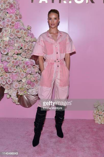 Rosie HuntingtonWhiteley attends the launch of Patrick Ta's Beauty Collection at Goya Studios on April 04 2019 in Los Angeles California