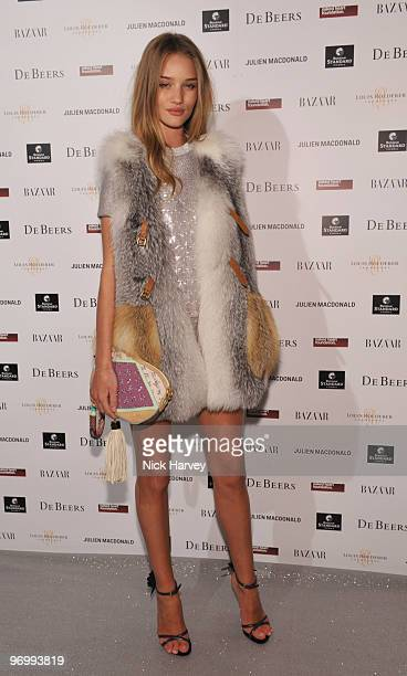 Rosie HuntingtonWhiteley attends the Love Ball London hosted by Natalia Vodianova and Harper's Bazaar as part of London Fashion Week Autumn/Winter...