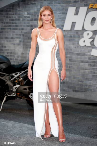 Rosie HuntingtonWhiteley attends the premiere of Universal Pictures' Fast Furious Presents Hobbs Shaw at Dolby Theatre on July 13 2019 in Hollywood...