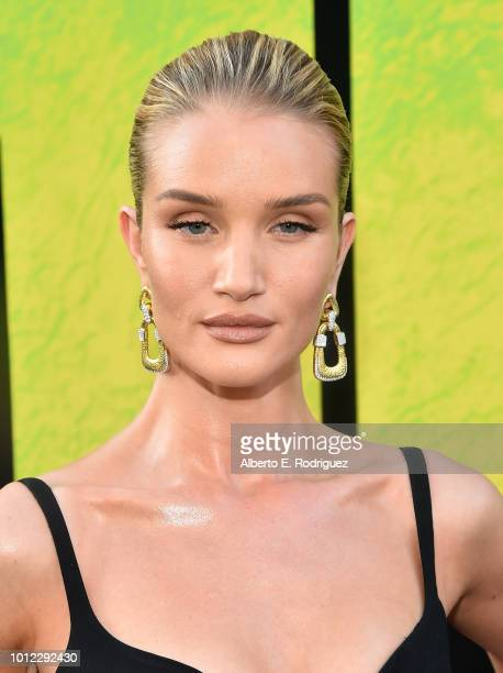 Rosie HuntingtonWhiteley attends the premiere of Warner Bros Pictures And Gravity Pictures' The Meg at TCL Chinese Theatre IMAX on August 6 2018 in...