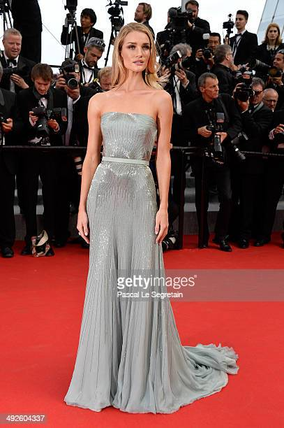 Rosie HuntingtonWhiteley attends 'The Search' premiere during the 67th Annual Cannes Film Festival on May 21 2014 in Cannes France