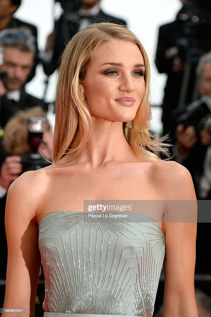 Rosie Huntington-Whiteley attends 'The Search' premiere during the 67th Annual Cannes Film Festival on May 21, 2014 in Cannes, France.