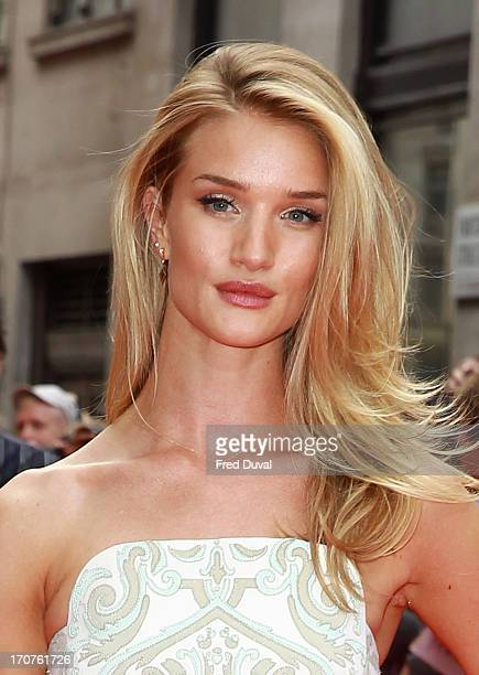 Rosie HuntingtonWhiteley attends the UK Premiere of 'Hummingbird' at Odeon West End on June 17 2013 in London England
