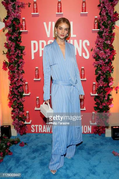 Rosie HuntingtonWhiteley attends the Vital Proteins celebration for the launch of Collagen Water on March 6 2019 in Irvine California