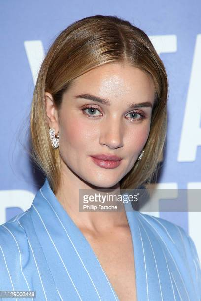 Rosie Huntington-Whiteley attends the Vital Proteins celebration for the launch of Collagen Water on March 6, 2019 in Irvine, California.