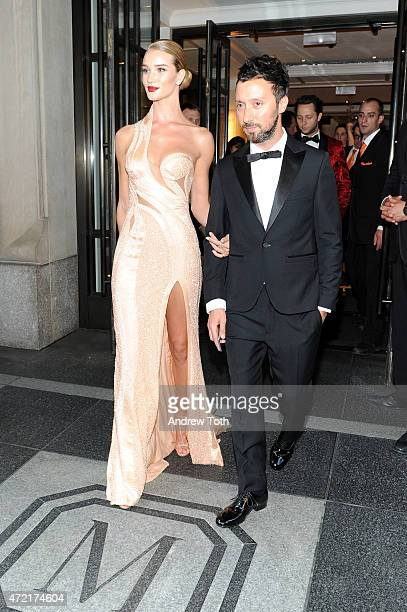 Rosie HuntingtonWhiteley departs The Mark Hotel for the Met Gala at the Metropolitan Museum of Art on May 4 2015 in New York City
