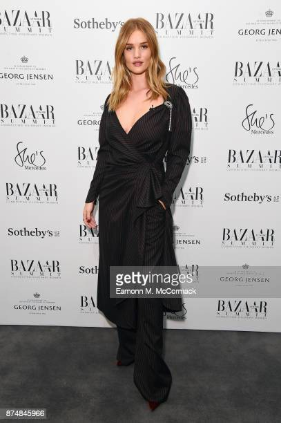 Rosie HuntingtonWhiteley during the Bazaar At Work Summit at Sotheby's on November 16 2017 in London England