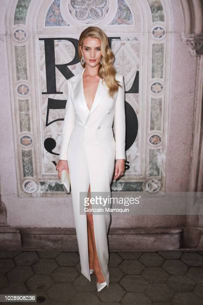 Rosie HuntingtonWhiteley during the Ralph Lauren 50th Anniversary September 2018 New York Fashion Week at Bethesda Terrace on September 7 2018 in New...