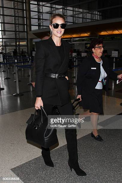 Rosie HuntingtonWhiteley is seen at LAX on January 22 2016 in Los Angeles California