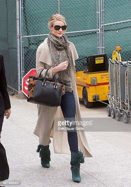 Rosie Huntington-Whiteley is seen at Los Angeles International Airport on February 19, 2013 in Los Angeles, California.