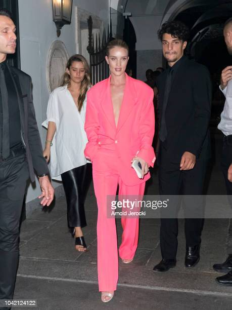 Rosie HuntingtonWhiteley is seen during Milan Fashion Week Spring/Summer 2019 on September 21 2018 in Milan Italy