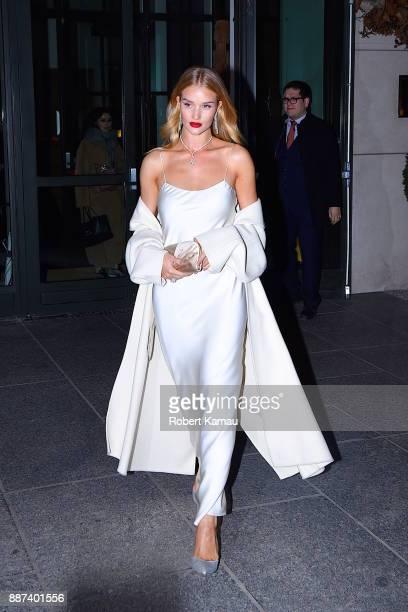Rosie HuntingtonWhiteley is seen in Manhattan on December 6 2017 in New York City