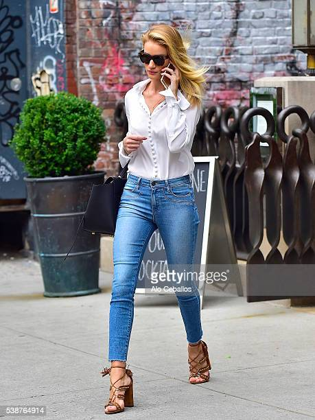 Rosie HuntingtonWhiteley is seen in Soho on June 8 2016 in New York City