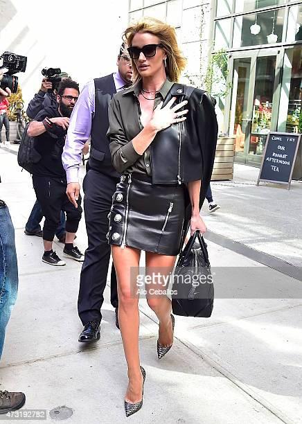 Rosie HuntingtonWhiteley is seen in Soho on May 13 2015 in New York City